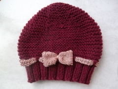bonnet mode enfant, bonnet tricot noeud