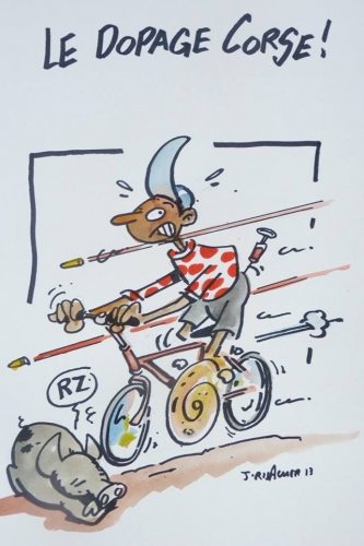 jean risacher,tour de france , corse,tour de france humour