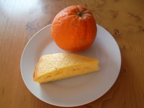 gateau , orange