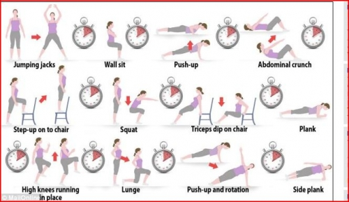 7 minutes gym,exercises 7minute,exercise intensifs