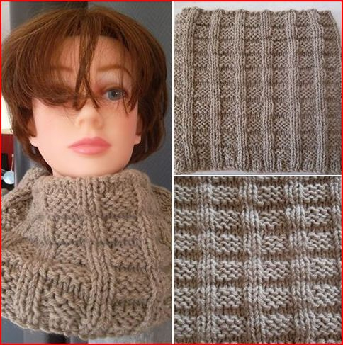 snood homme,tricot,